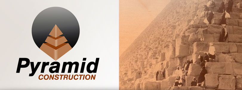 Pyramid Construction Logo Design